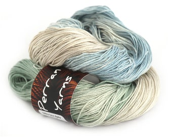 4ply silk seacell luxury yarn handdyed in shade Chill