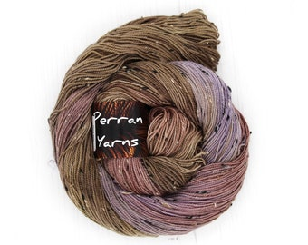 Fleck 4ply merino sock yarn handdyed in shade Amethyst Cave