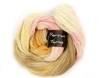 4ply bamboo merino wool handdyed in shade Ice Cream Or Sorbet