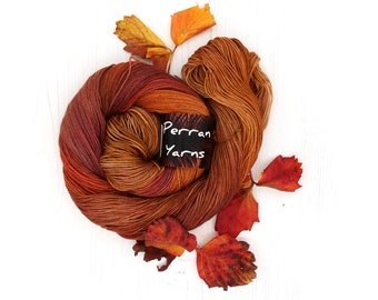 4ply pure merino wool hand dyed in colourway Autumn Walk
