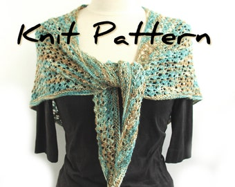 Lacy Heart Shawl knitting pattern for 100grams 4ply yarn
