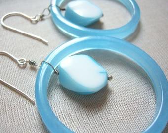 Wild Blue Loop Earrings
