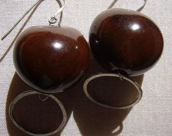 Kikui and Silver Circle Earrings
