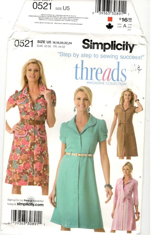 Simplicity 0521 Size 16 18 20 22 24 Plus Size Womens Etsy