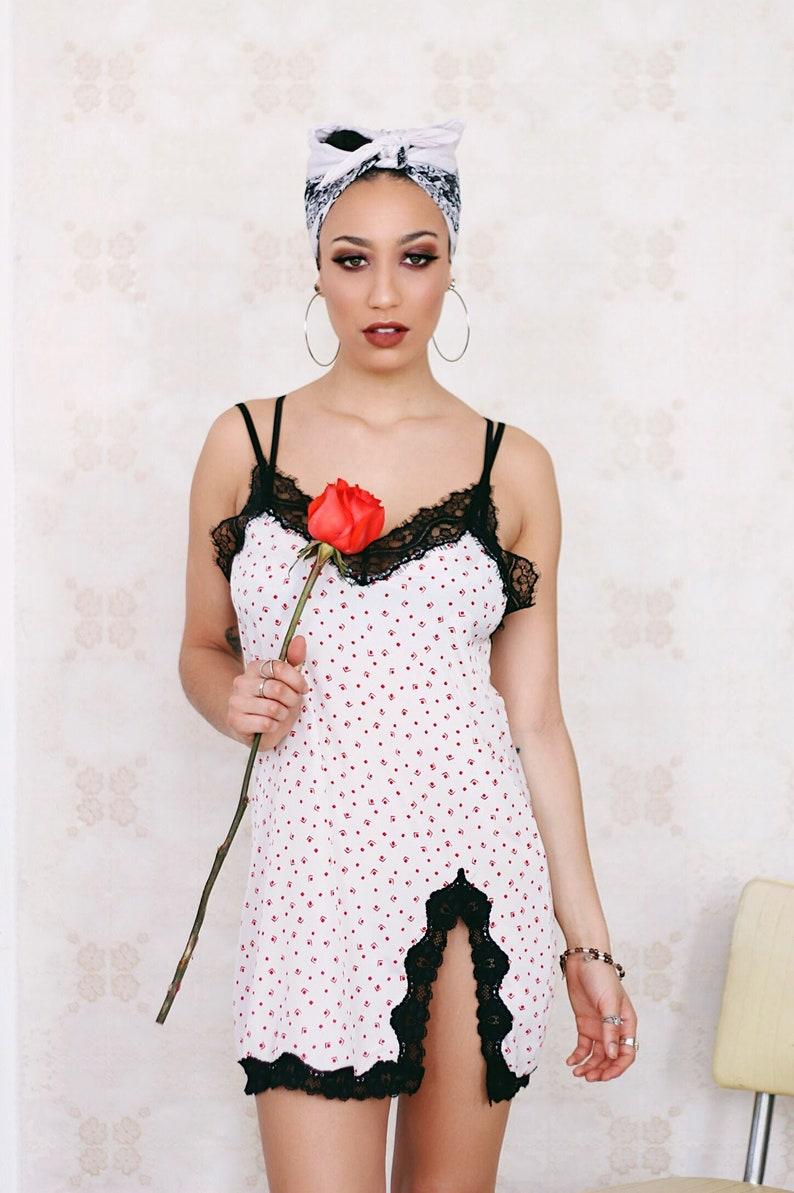 5564bf271 Classic Slip Dress in Vintage Red Geometric Print  slip dress
