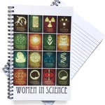 Women in Science Notebook Biology Gift Science Teacher Feminist Gift Spiral Notebook Travel Journal Field Notes Science Gift Lined Notebook