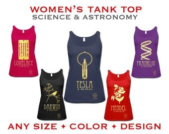 Science Shirt, Women's Tank Top, Geek Shirt, Science Gift for Her, Physics Shirt, Geek Gift, Women in Science Tshirt, Science Teacher Shirt
