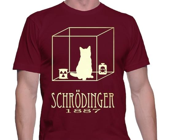 0cf3dca94 Schrodinger's Cat TShirt Physics Gift Geek Science Shirt | Etsy