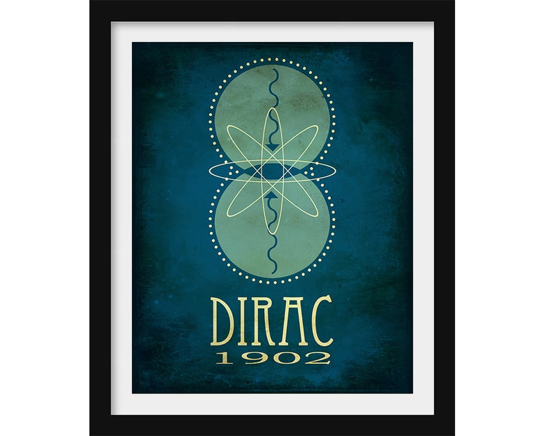 Theoretical Physics Gift Science Art Paul Dirac Equation Steampunk Print  Science Poster Teacher Gift Science and Art Classroom Decor SciArt