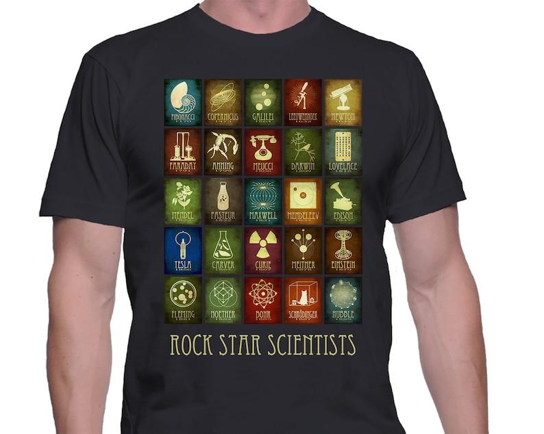 Science Tshirt Geek Rock Star Scientist Shirt Science Gift image 0