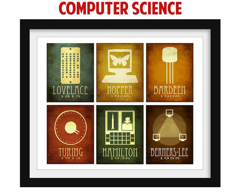 Computer Science Art Print  Ada Lovelace Science Poster  image 0