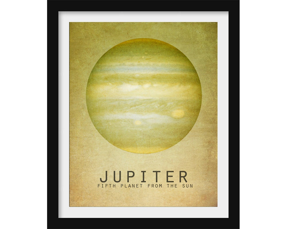 Jupiter Poster Outer Space Wall Art Solar System Print | Etsy