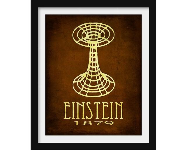 Einstein Wall Art Science Decor Albert Einstein Poster | Etsy