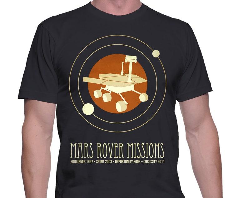 Mars Shirt Space Rover Tshirt Astronomy Gift Astronaut Shirt image 0