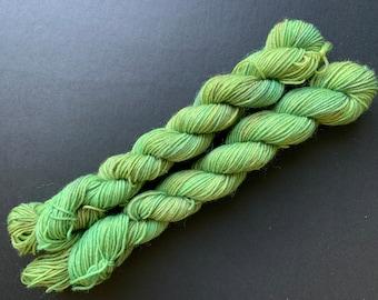 Lilypad - 20g mini skein - 4ply platinum sock yarn - 75/25  superwash Merino wool and nylon
