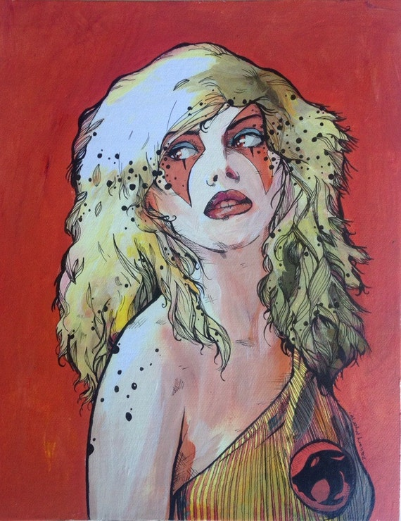 Debbie Harry Thundercats Cheetara Limited Giclee Print Rip Etsy