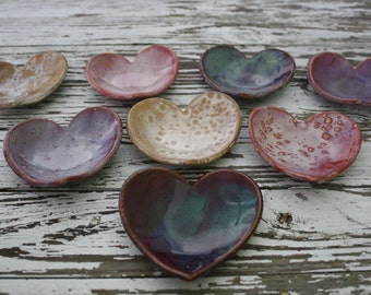 Bridesmaid Gifts Wedding Favors Corporate Gifts Bridal Shower Favors Heart Shaped Bowl Soap Dish or Jewelry Holder - Set of 7