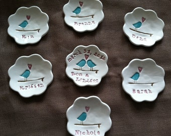 Bridesmaid Gifts Ring Dishes Set of 8 Personalized