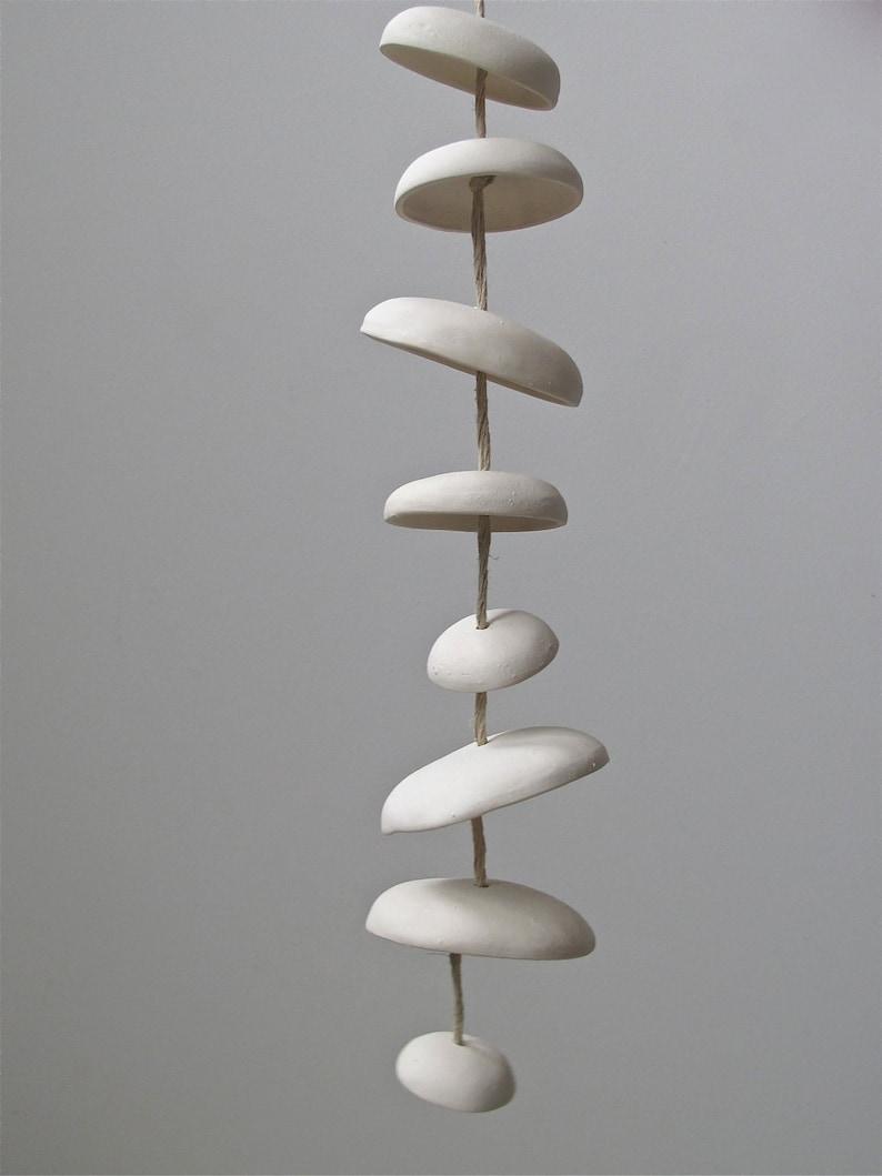 Mudpuppy Moon chimes organic hanging disc bells garden image 0