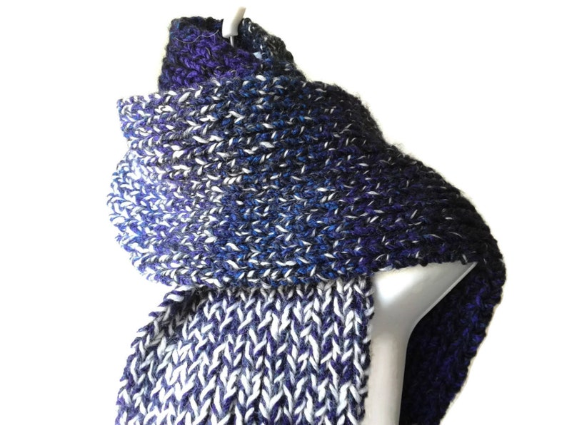 Unisex Oversized Double Knit Chunky Scarf Choose Your Color Etsy