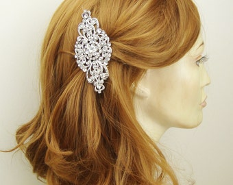 Bridal Hair Comb, Statement Bridal Hairpiece, Wedding Hair Accessories, Wedding Hair Comb, Antiqued Silver, ANDORRA