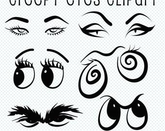 Halloween clipart spooky eyes clip art monster eye lurking