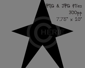 Black Prim Star Clipart