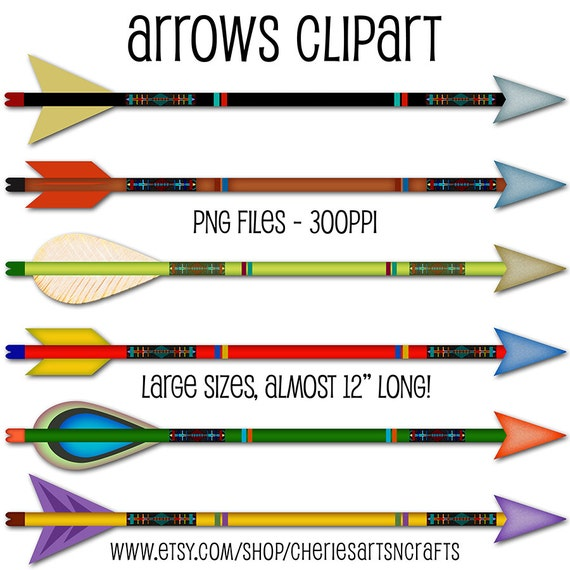 Arrows Clipart Arrows PNG Graphics Arrows Graphics For Commercial or Personal Use Graphics Instant Download Digital Files Cute Clipart