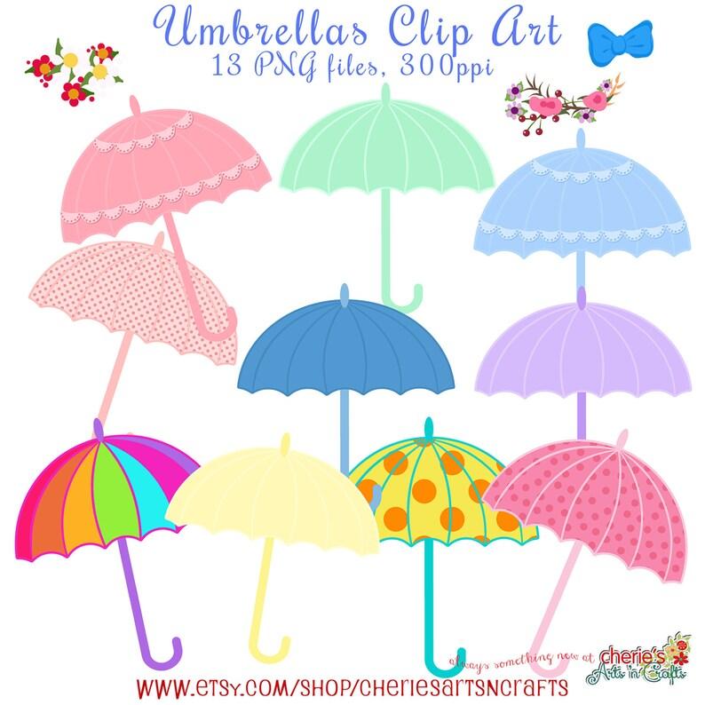 8eb89f51b Umbrellas Clip Art Baby Shower Umbrellas Baby Shower Clip | Etsy