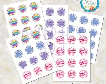 Slime Labels | You Print At Home | 2 Inch Circles Template for Avery Labels | Printable Labels | DIY Craft Labels | Round Labels Templates