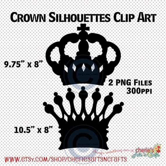 Crown Silhouettes King And Queen Crown Silhouettes King Etsy