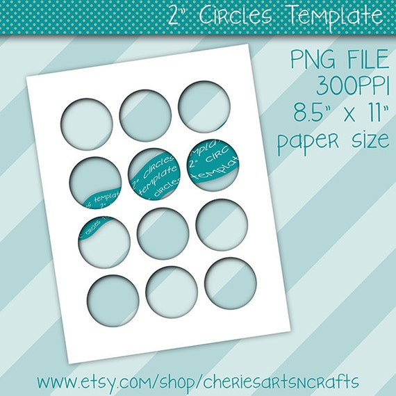 2 inch circles templates photoshop png template collage etsy