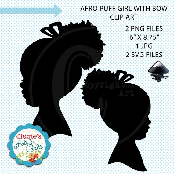 Fantastic Cute Little Afro Puff Girl Silhouette Silhouettes Clip Art Etsy Natural Hairstyles Runnerswayorg