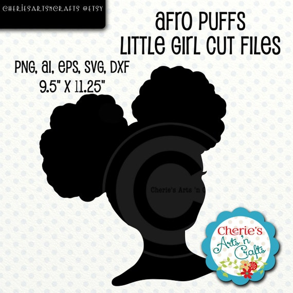 Astounding Afro Puffs Girl Silhouette Little Girl Silhouette Svg File Etsy Natural Hairstyles Runnerswayorg