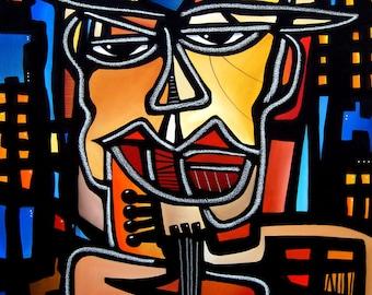 20af480d9db Abstract Modern pop Art original Jazz Blues Piano Canvas Print by Fidostudio