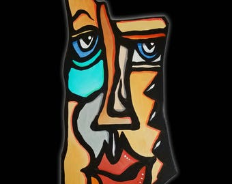 Fine Art Sculpture Abstract Modern Painting colorful Contemporary wall decor by Fidostudio