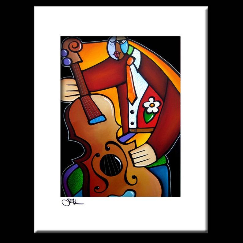 Peinture Abstraite De Jazz Moderne Pop Art Print Décor Etsy
