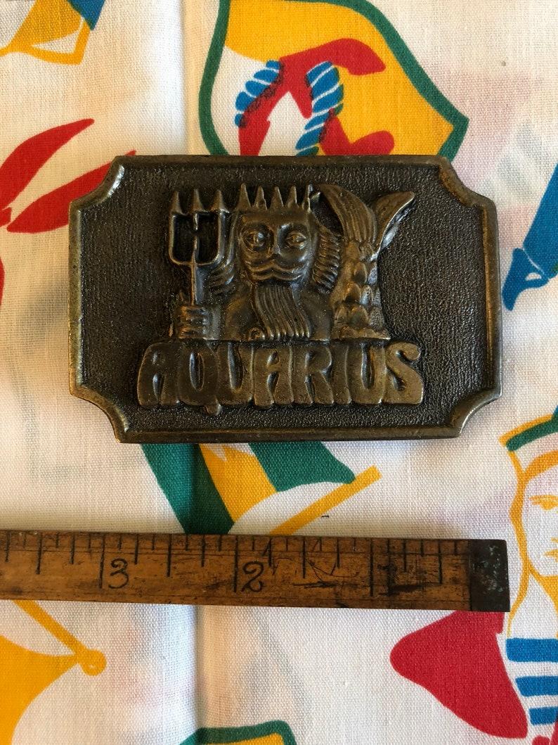 Vintage Aquarius Zodiak 70/'s belt buckle Merman