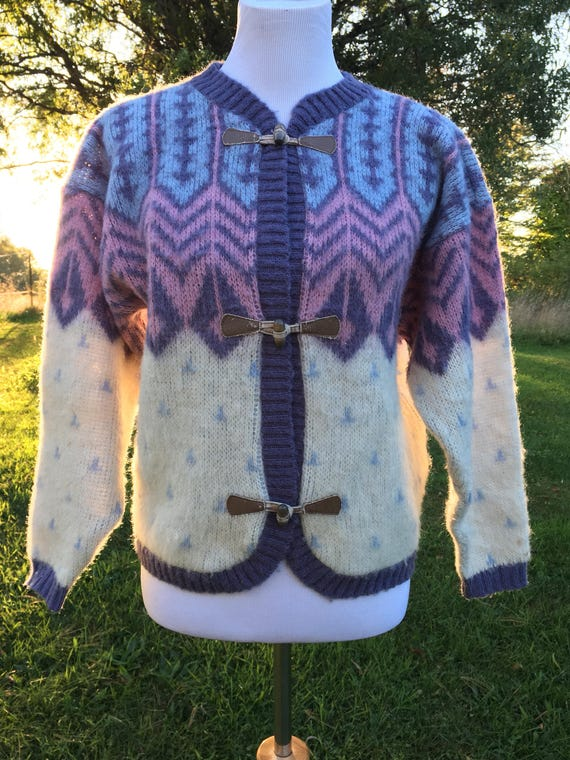 Boho Sweater/ Bohemian Sweater/ Wool Sweater/Vinta