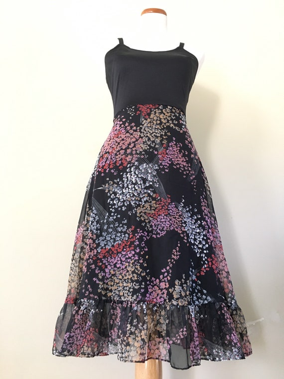 Vintage 70s Dress/ 70s Bohemian Dress/70s Dress S… - image 5