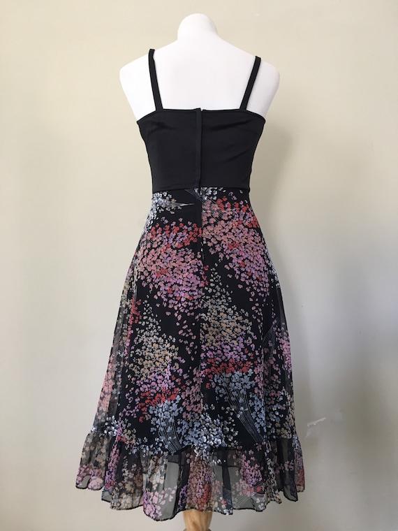 Vintage 70s Dress/ 70s Bohemian Dress/70s Dress S… - image 3