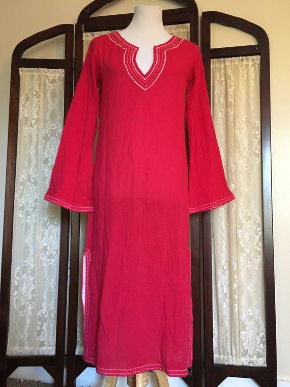 Vintage Tunic/Gauze Dress/Boho Dress