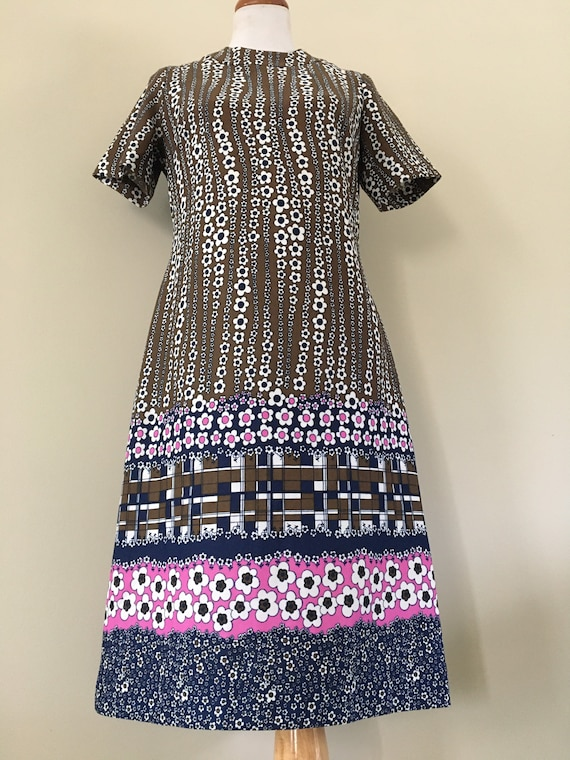 Boho Dress/ Flower Power Dress/ Hippie Dress
