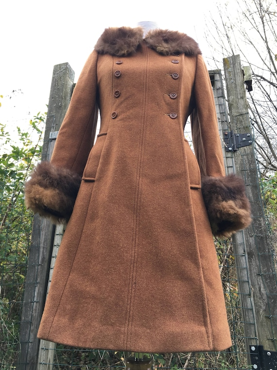 Vintage Coat/ Penny Lane Coat/ Wool Coat/ Boho Coa