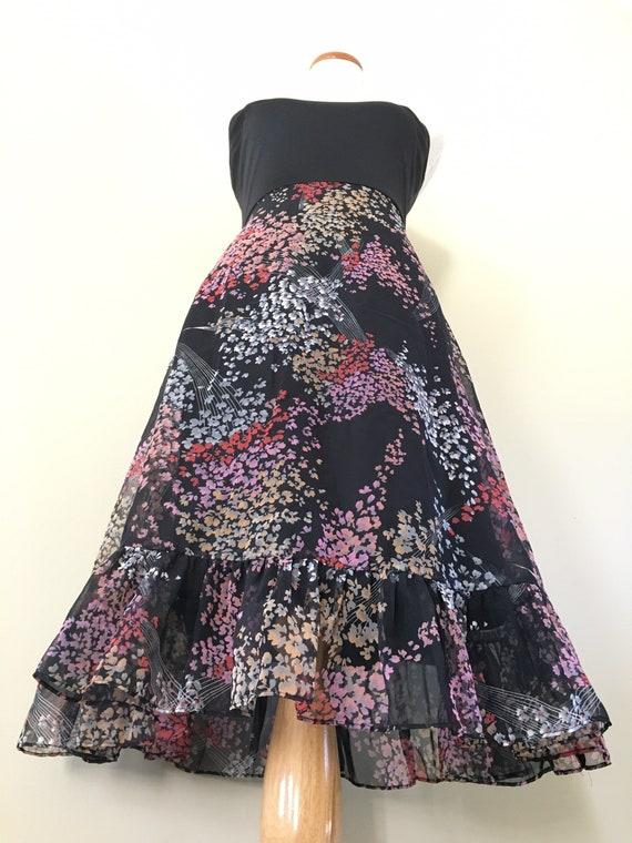 Vintage 70s Dress/ 70s Bohemian Dress/70s Dress S… - image 1