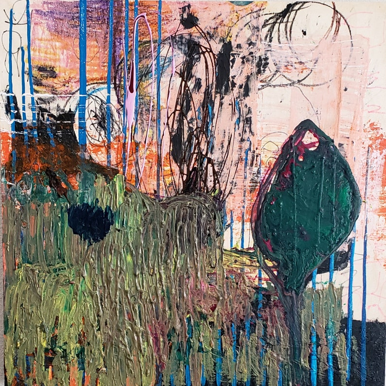 Original painting contemporary mixed media abstract art by image 0
