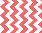 Riley Blake Designs Chevron Rouge White Medium Quilting Apparel Fabric By The Yard
