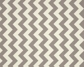 Riley Blake Designs Chevron Gray On Cream Medium Quilting Apparel Fabric By The Yard