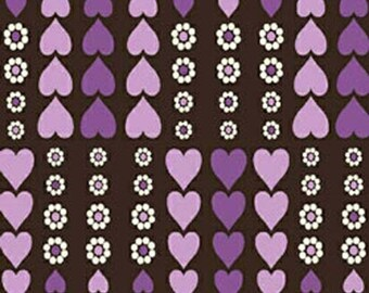 REMNANT PIECE - Windham Fabrics Contemporary Charm Purple Heart Apparel Quilting Fabric