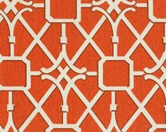 Waverly Network Coral Parterre Fret Lattice Work Home Decorating Fabric By The Yard